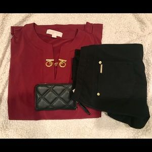 Michael Kors Medium Burgundy Merlot tunic /blouse
